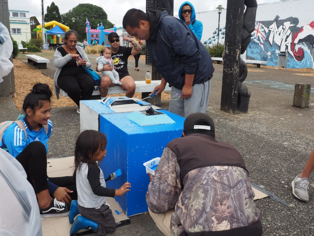 Our Otangarei community getting stuck in